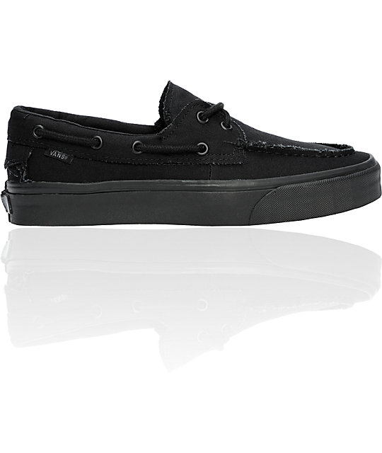 Vans True All Black Zapato Del Barco Skate Shoes