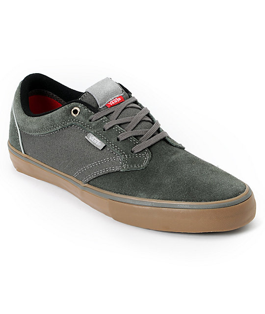 Vans Type II Charcoal Grey & Gum Skate Shoes (Mens)