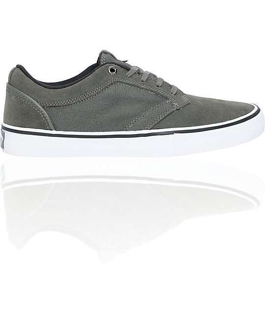 Vans Type II Grey & White Skate Shoes (Mens)