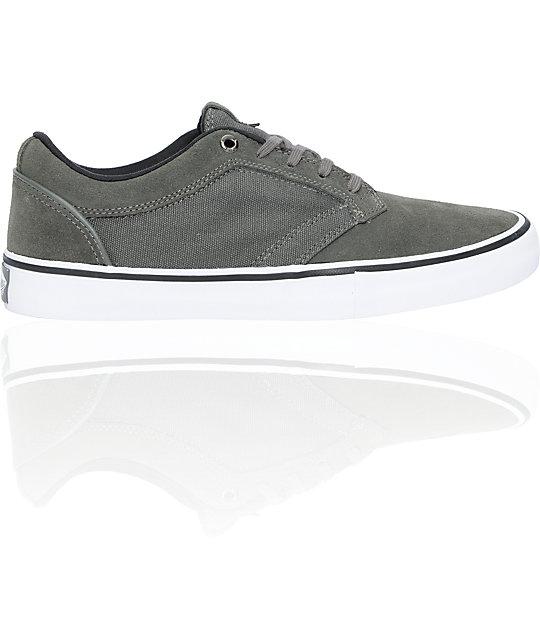 Vans Type II Grey & White Skate Shoes (Mens)