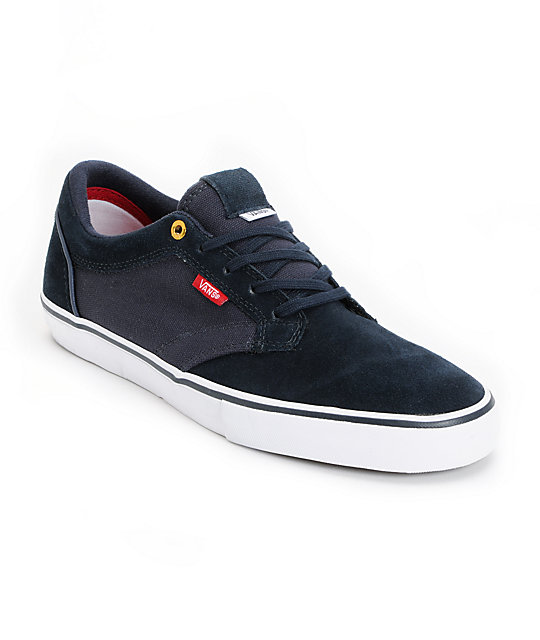 Vans Type II Navy & White Skate Shoes (Mens)