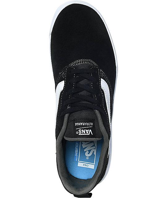 Vans UltraRange Pro Black & White Suede Skate Shoes | Zumiez