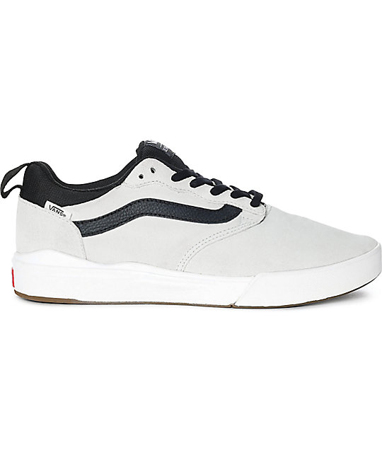 Vans UltraRange Pro White & Black Suede Skate Shoes