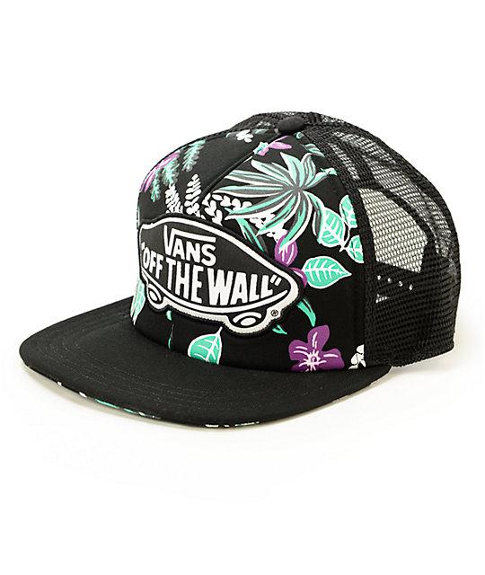 49600773b6c40 vans floral trucker hat   OFF36% Discounts