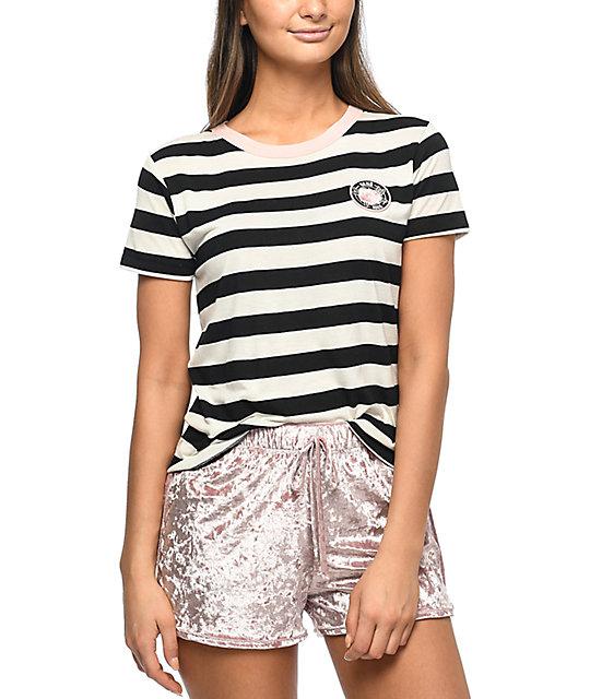 Vans Vintage Rose Marshmallow Stripe Baby T-Shirt