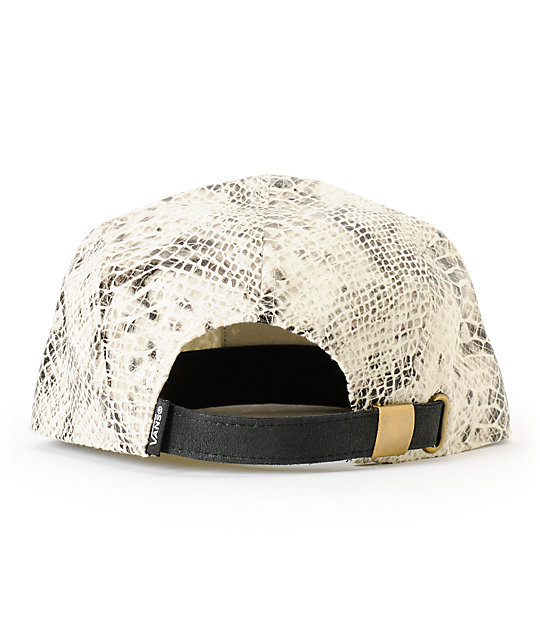 Vans Willa Snake Print 5 Panel Hat