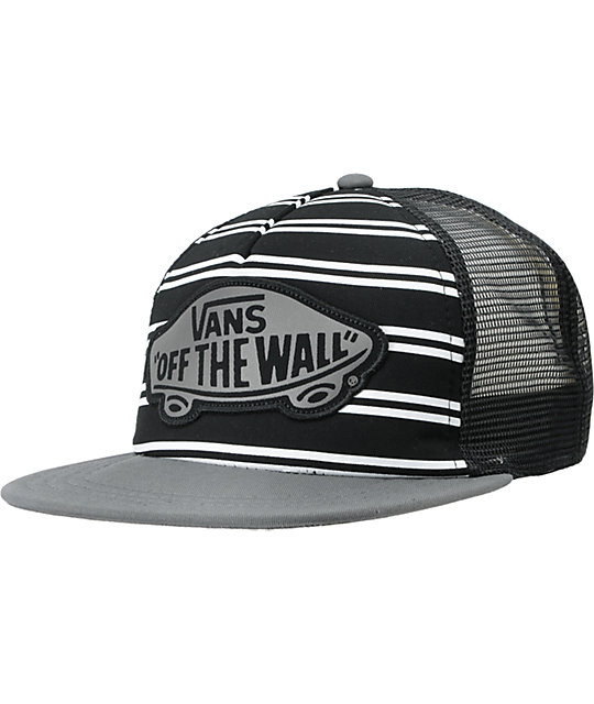 Vans Womens Skimmer Black Trucker Hat