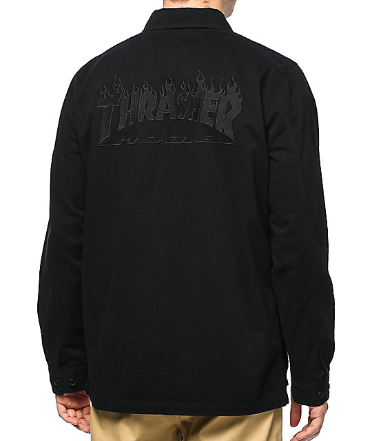 Vans X Thrasher M65 Black Jacket