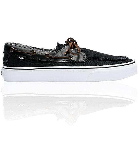 Vans Zapato Del Barco Black Boat Skate Shoes