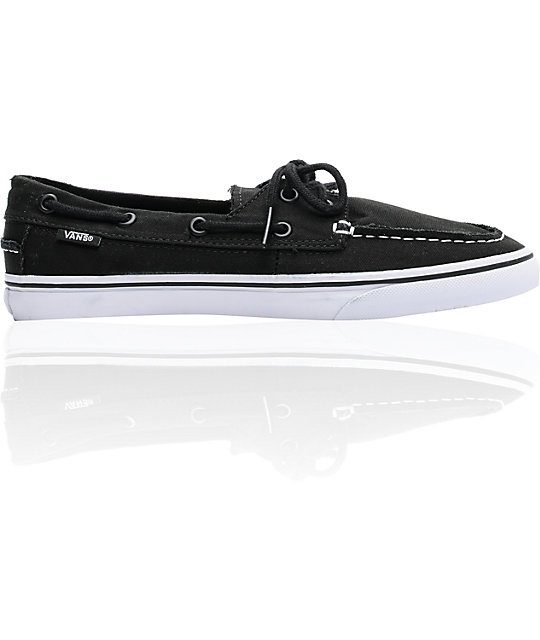Vans Zapato Lo Pro Black & White Skate Shoes (Womens)s