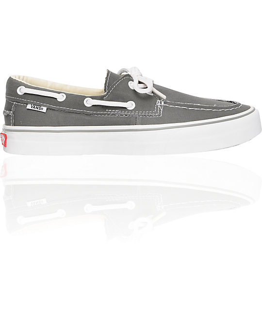 Vans Zapato del Barco Pewter & White Skate Shoes