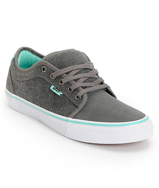 Vans x Alien Workshop Chukka Low Grey & Mint Skate Shoes (Mens)