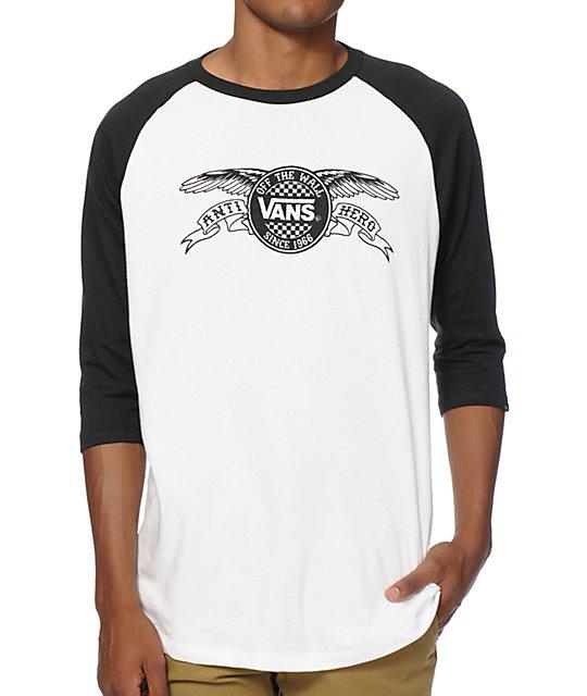 vans baseball t shirt