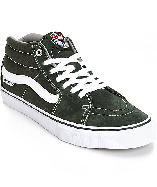 Vans x anti hero sk8 mid skate shoes at zumiez pdp