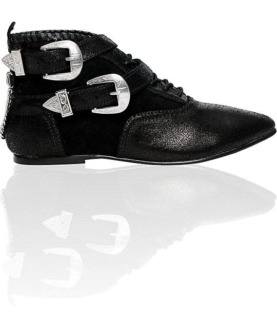 Vans x Hellz Bailie Black Buckle Boots