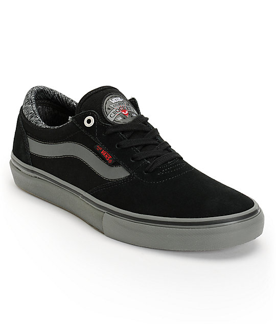 Vans x Independent Crockett Pro Black & Charcoal Skate Shoes (Mens)