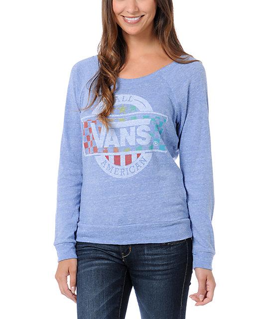 Vans x Junk Food All American Blue Long Sleeve T-Shirt