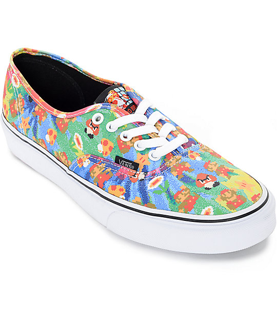 Vans x Nintendo Authentic Super Mario Brothers Tie Dye Skate Shoes (Mens)