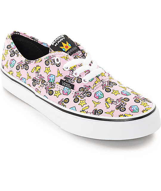 Vans x Nintendo Boys Authentic Princess Peach Shoes