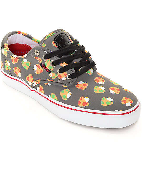vans x nintendo. vans x nintendo chima pro mushrooms grey skate shoes