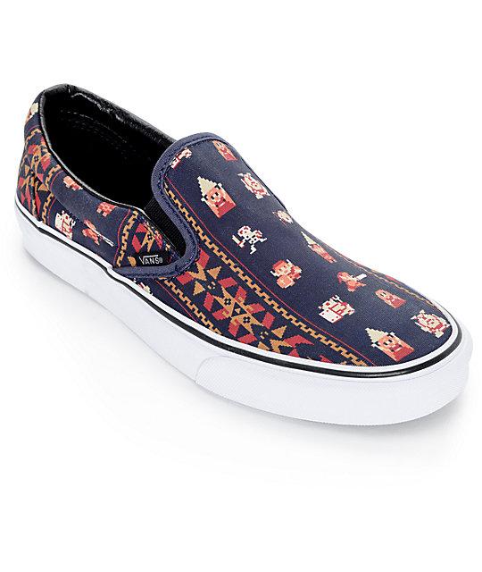 Vans x Nintendo Classic Zelda Parisian Night Slip On Shoes (Mens)