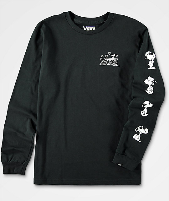 Vans x Peanuts Boys Black Long Sleeve T-Shirt