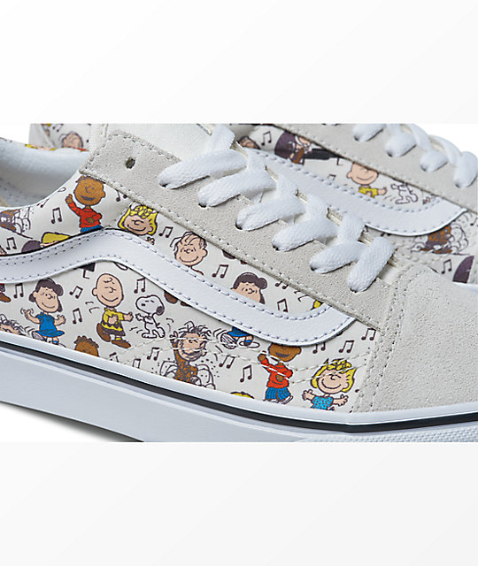 Vans x Peanuts Old Skool Multi-Colored & White Skate Shoes