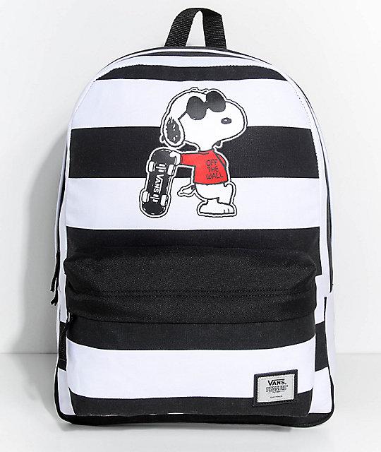 Vans x Peanuts Realm Joe Cool Stripe 22L Backpack