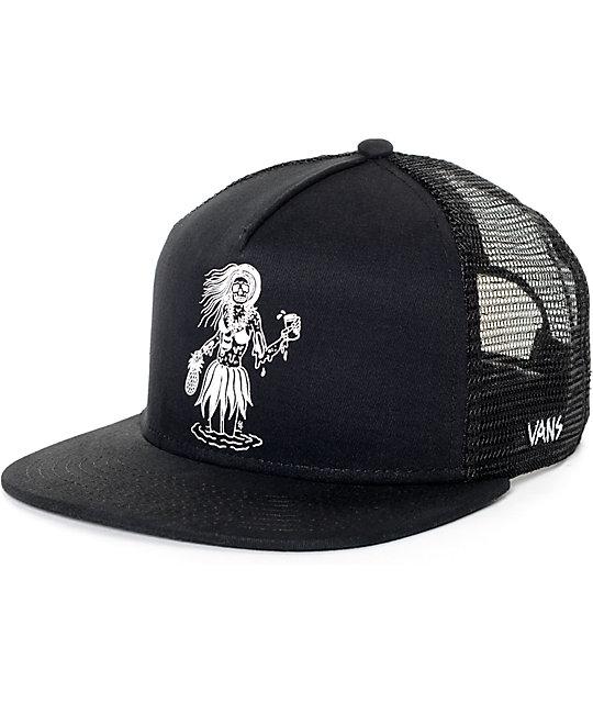 Vans X Sketchy Tank Black Trucker Hat