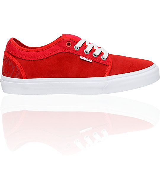 Vans x Spitfire Chukka Low Red Skate Shoes