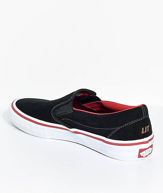Vans x Spitfire Slip-On Pro Black Suede Skate Shoes