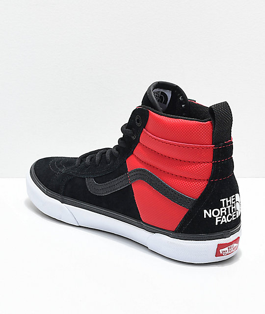Vans x The North Face Sk8-Hi MTE All Black & Red Shoes
