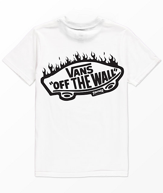 Vans x Thrasher Boys White Pocket T-Shirt