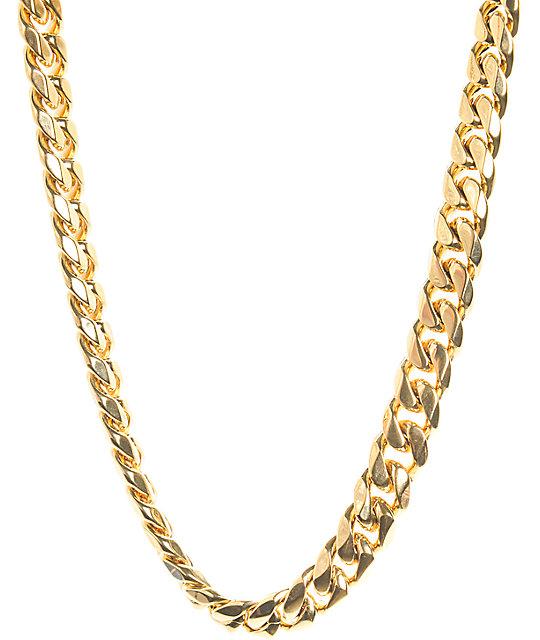 veritas 18 karat cuban necklace at zumiez pdp