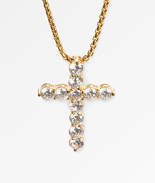 Veritas romulus cross 24kt yellow gold necklace zumiez veritas romulus cross 24kt yellow gold necklace aloadofball Choice Image