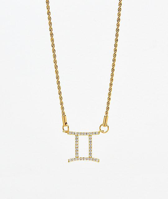 De Mujer Oro Collar Géminis Para Vesso IDH9EW2