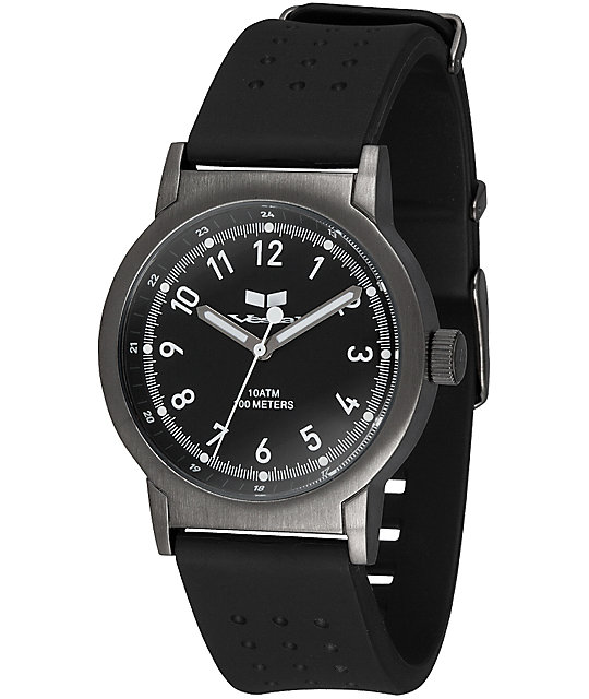 Vestal Alpha Bravo PU Black & Gunmetal Analog Watch