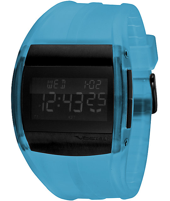 Vestal Crusader Blue & Black Digital Watch