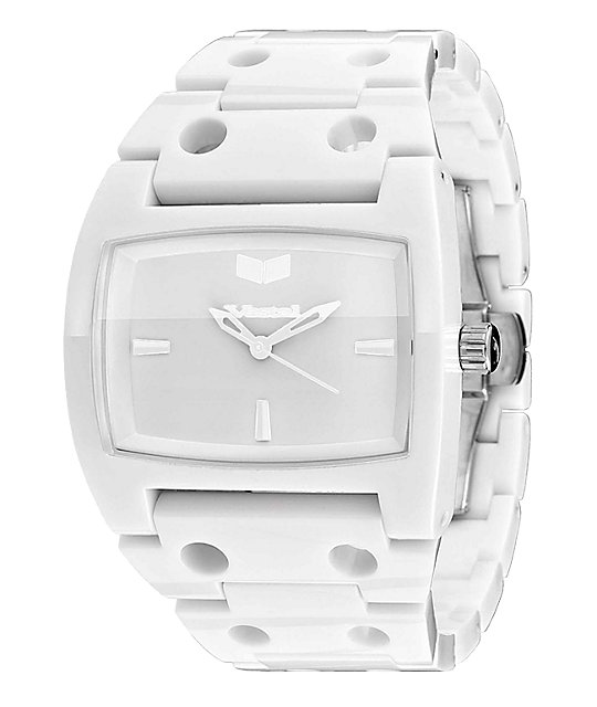 Vestal Destroyer Plastic White Analog Watch