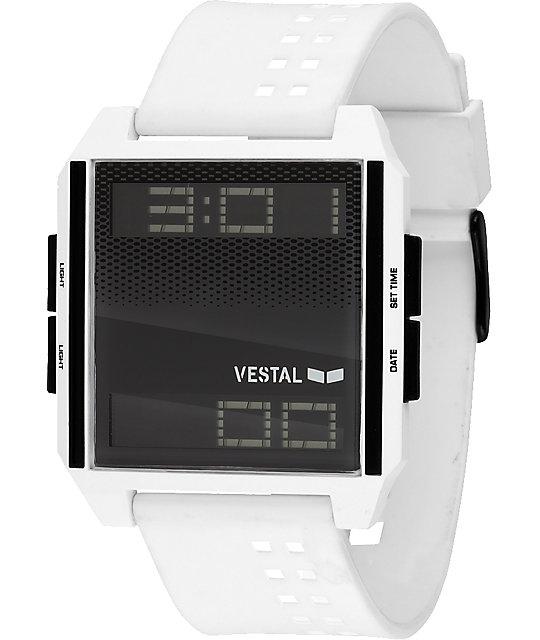 Vestal Digichord White & Black Digital Watch