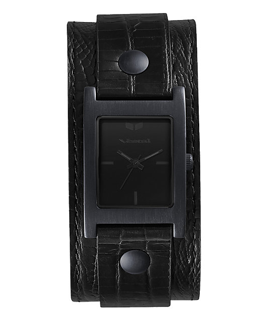 Vestal Electra Black Lizard Analog Watch
