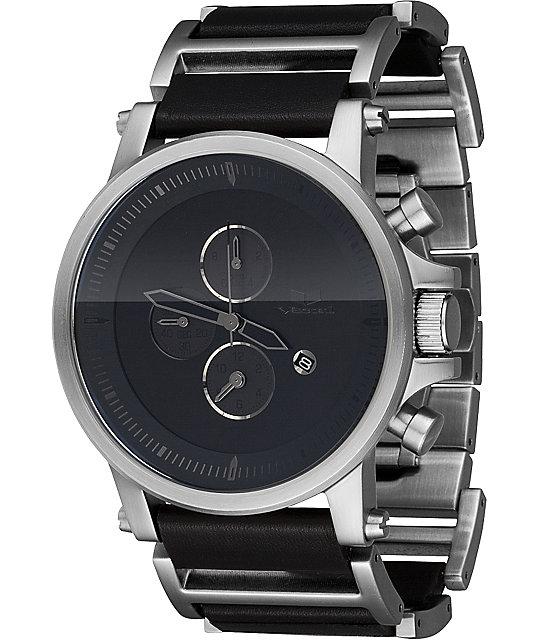 Vestal Plexi Black & Silver Analog Watch