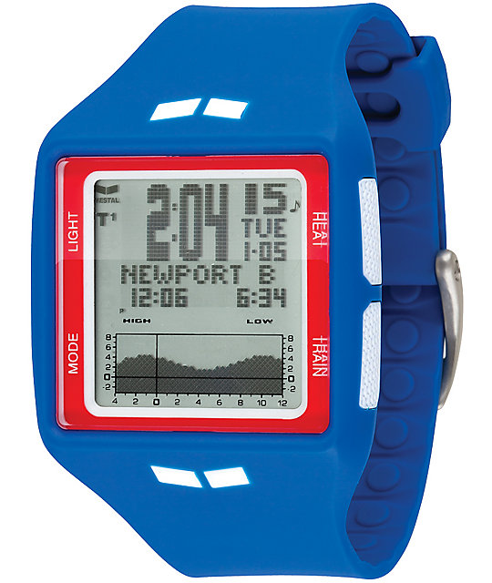 Vestal The Brig Tide And Train Blue Digital Watch