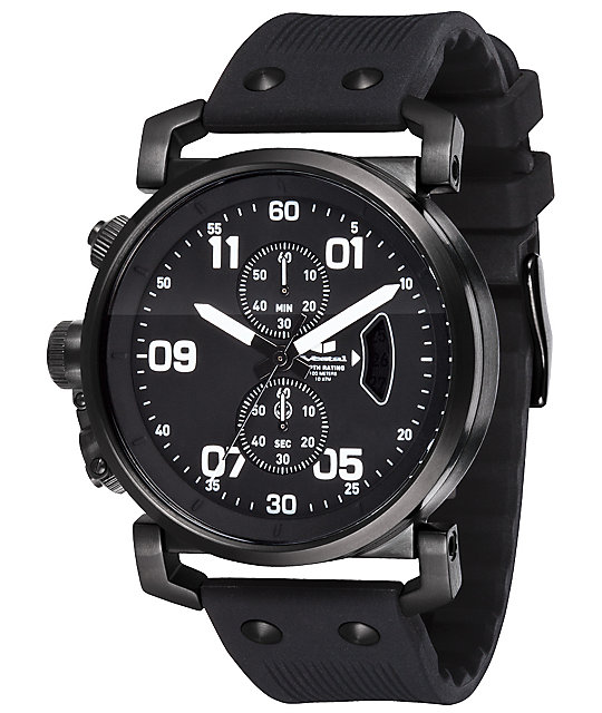Vestal USS Observer Black Chronograph Watch