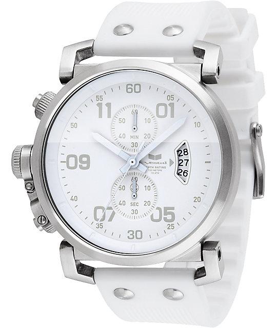 Vestal USS Observer White Chronograph Watch