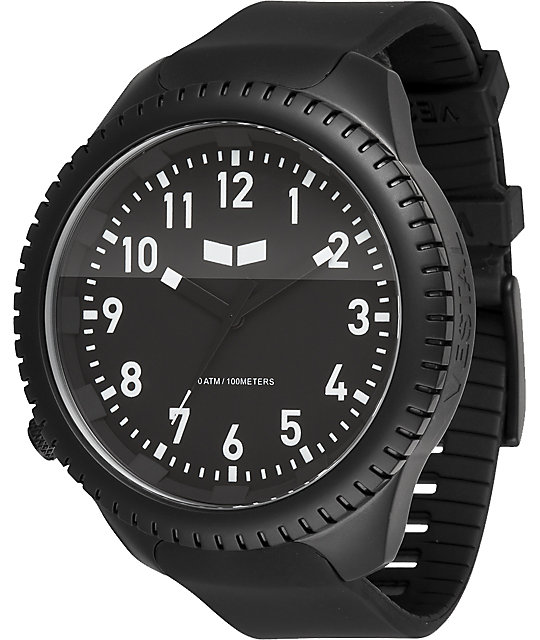 Vestal Utilitarian Black & Silver Analog Watch