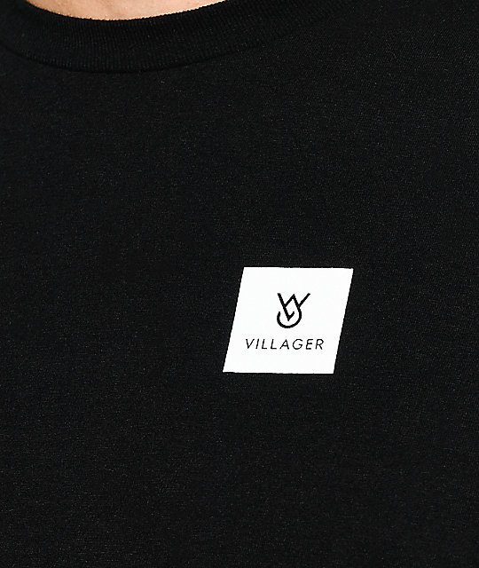 Villager Koston Black Long Sleeve T-Shirt