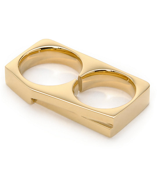 Vitaly Terra X Gold Double Ring