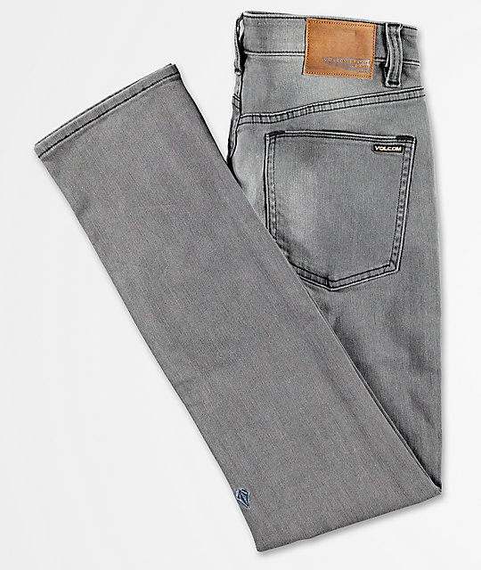 Volcom 2x4 Cool Grey Wash Skinny Denim Jeans
