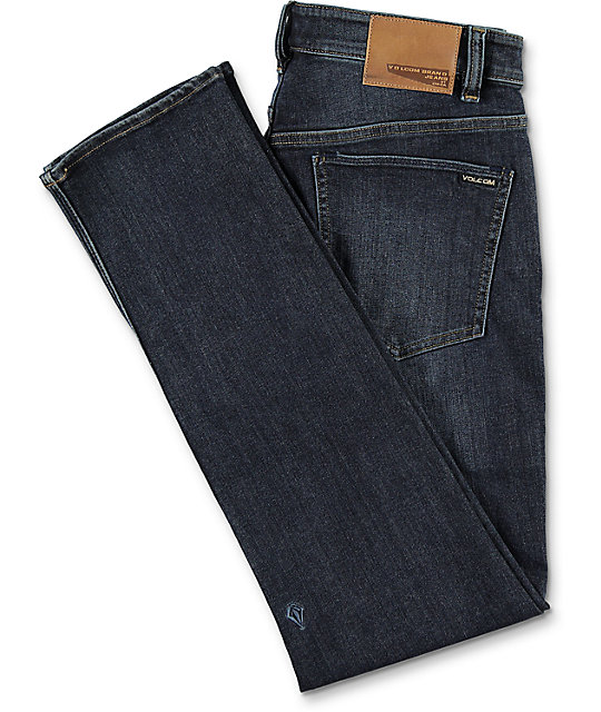 Volcom 2x4 Dark Blue Skinny Denim Jeans